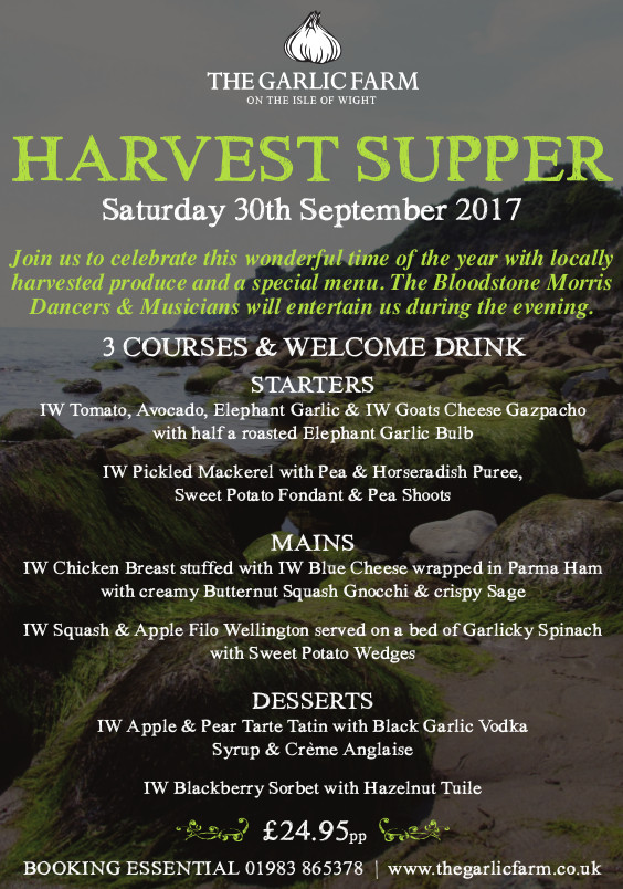 Garlic Farm Harvest Supper Poster